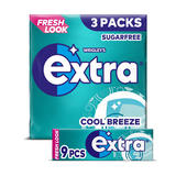 Extra Cool Breeze Chewing Gum Sugar Free Multipack 3 x 9 Pieces