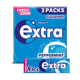 Extra Peppermint Chewing Gum Sugar Free Multipack 3 x 9 Pieces