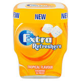 Extra Refreshers Tropical Sugar Free Chewing Gum Bottle 30pcs