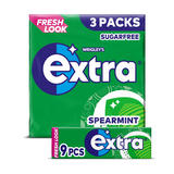 Extra Spearmint Chewing Gum Sugar Free Multipack 3 x 9 Pieces