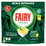 Fairy Original All In One Dishwasher Tablets, Lemon, 29 Capsules