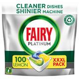 Fairy Platinum All In One Dishwasher Tablets Lemon, 100 Tablets