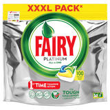 Fairy Platinum Dishwasher Tablets Lemon 100 Per Pack
