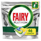 Fairy Platinum Dishwasher Tablets, Lemon, 46 Capsules