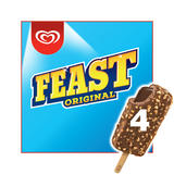 Feast Chocolate Ice Cream 4 x 90ml