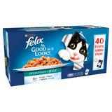 Felix As Good As It Looks Cat Food Ocean Feasts 40 x 100g