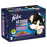 FELIX AS GOOD AS IT LOOKS Favourites Selection in Jelly Wet Cat Food 12 x 100g