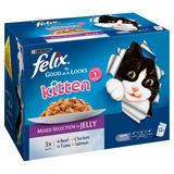 FELIX AS GOOD AS IT LOOKS Kitten Mixed Selection in Jelly Wet Cat Food 12x100g