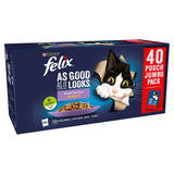 FELIX AS GOOD AS IT LOOKS Mixed Selection in Jelly Wet Cat Food 40x100g