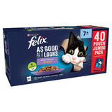 FELIX AS GOOD AS IT LOOKS Senior Mixed Selection in Jelly Wet Cat Food 40x100g