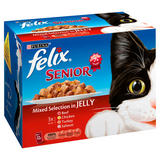 Felix Senior Cat Food Mixed in Jelly 12 x 100g