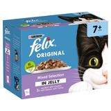 FELIX Senior Variety Selection in Jelly Wet Cat Food 12 x 100g