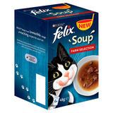 Felix Soup Farm Selection Wet Cat Food 6 x 48g