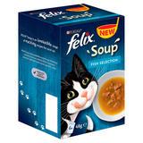 Felix Soup Fish Selection Wet Cat Food 6 x 48g