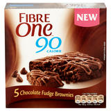 Fibre One 90 Calorie Chocolate Fudge High Fibre Brownies 5x24g