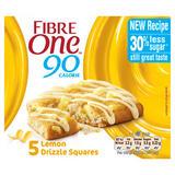 Fibre One 90 Calorie Lemon Drizzle High Fibre Cake Squares 5 x 24g