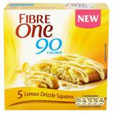 Fibre One 90 Calorie Lemon Drizzle High Fibre Squares 5x24g