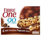 Fibre One 90 Calorie Milk Chocolate Popcorn Bars 4 x 21g (84g)