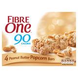 Fibre One 90 Calorie Peanut Butter High Fibre Popcorn Bars 4x21g