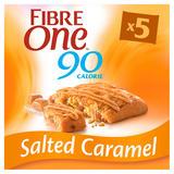 Fibre One 90 Calorie Salted Caramel High Fibre Squares 5x24g