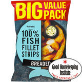 Iceland Made with 100% Fish Fillet Strips Breaded 800g