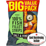 Iceland Made with 100% Fish Fillet Strips Salt & Vinegar 800g