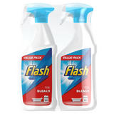 Flash Multi Purpose Cleaning Spray Bleach For Hard Surfaces 2X750ML