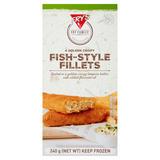 Fry's 4 Golden Crispy Fish-Style Fillets 240g