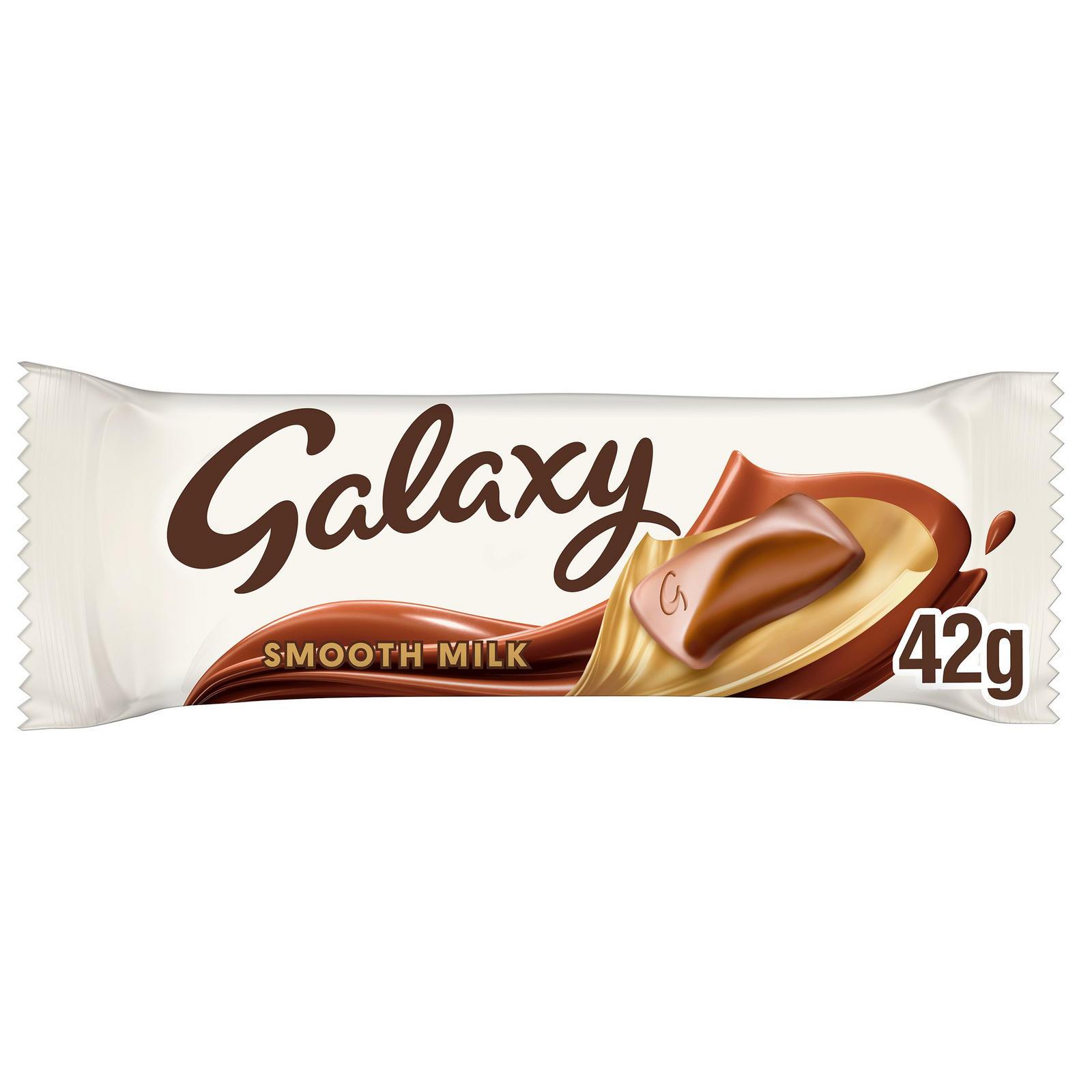 Galaxy Smooth Milk Chocolate Bar 42g   Single Chocolate ...