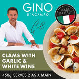 Gino Clams With Garlic & White Wine, Chopped Tomatoes & Parsley 450g