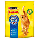 GO-CAT CRUNCHY & TENDER with Salmon and Tuna Dry Cat Food 325g