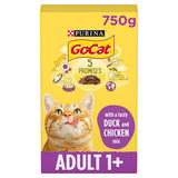 Go-Cat® with Duck and Chicken Mix Dry Cat Food 750g