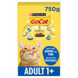 Go-Cat® with Herring and Tuna Mix with Vegetables Dry Cat Food 750g
