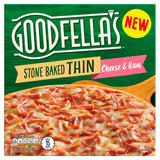 Goodfella's Stone Baked Thin Cheese & Ham 351g