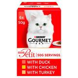 Gourmet Mon Petit Cat Food Pouches Poultry 6 x 50g