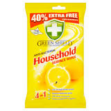 Green Shield 4 in 1 Anti-Bacterial Household Surface Wipes 70 Extra Large Wipes