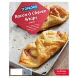 Greggs 2 Bacon & Cheese Wraps 218g