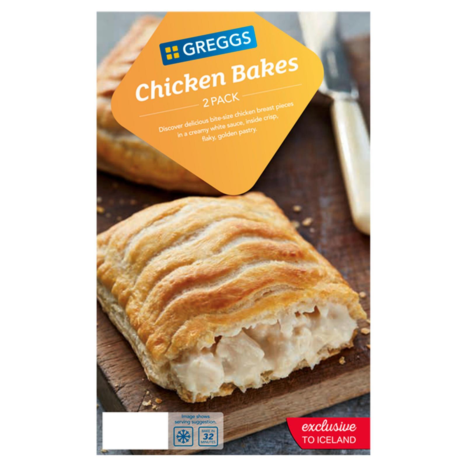Greggs 2 Chicken Bakes 306g   Pasties, Quiche & Sausage ...