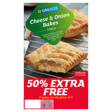 Greggs 3 Cheese & Onion Bakes 432g