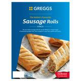 Greggs 4 Sausage Rolls 427g