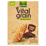 Gullón Vital Grain Breakfast Oat Biscuits Choc Chips 6 x 40g (240g)