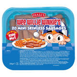 Hall's Wee Willie Winkie's 20 Mini Skinless Sausages 205g