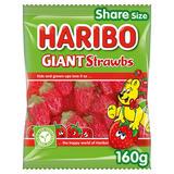 HARIBO Giant Strawbs Bag 160g