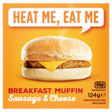 Heat Me, Eat Me Breakfast Muffin Sausage & Cheese 124g