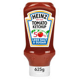 Heinz 50% Less Sugar & Salt Tomato Ketchup 625g