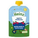 Heinz Apple & Blueberries Fruit Pouch 100g