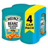 Heinz No Added Sugar Baked Beanz 4 x 415g