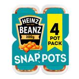 Heinz Snap Pots Beanz 4 x 200g (800g)
