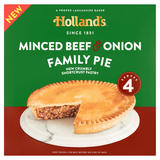 Holland's 4 Minced Beef & Onion Family Pie