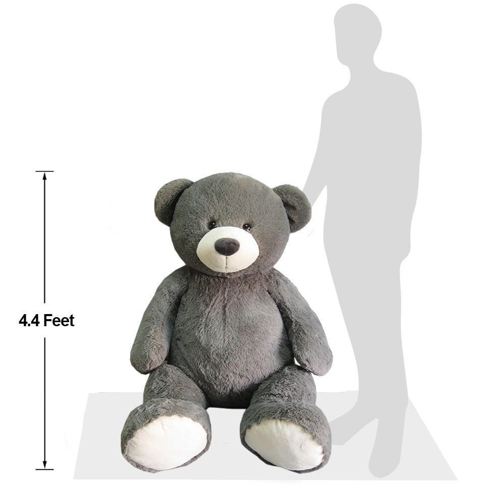 Blue Big Teddy Bear, Hugfun Giant Plush Bear 53 4 4 Feet Tall Novelty Gifts Iceland Foods